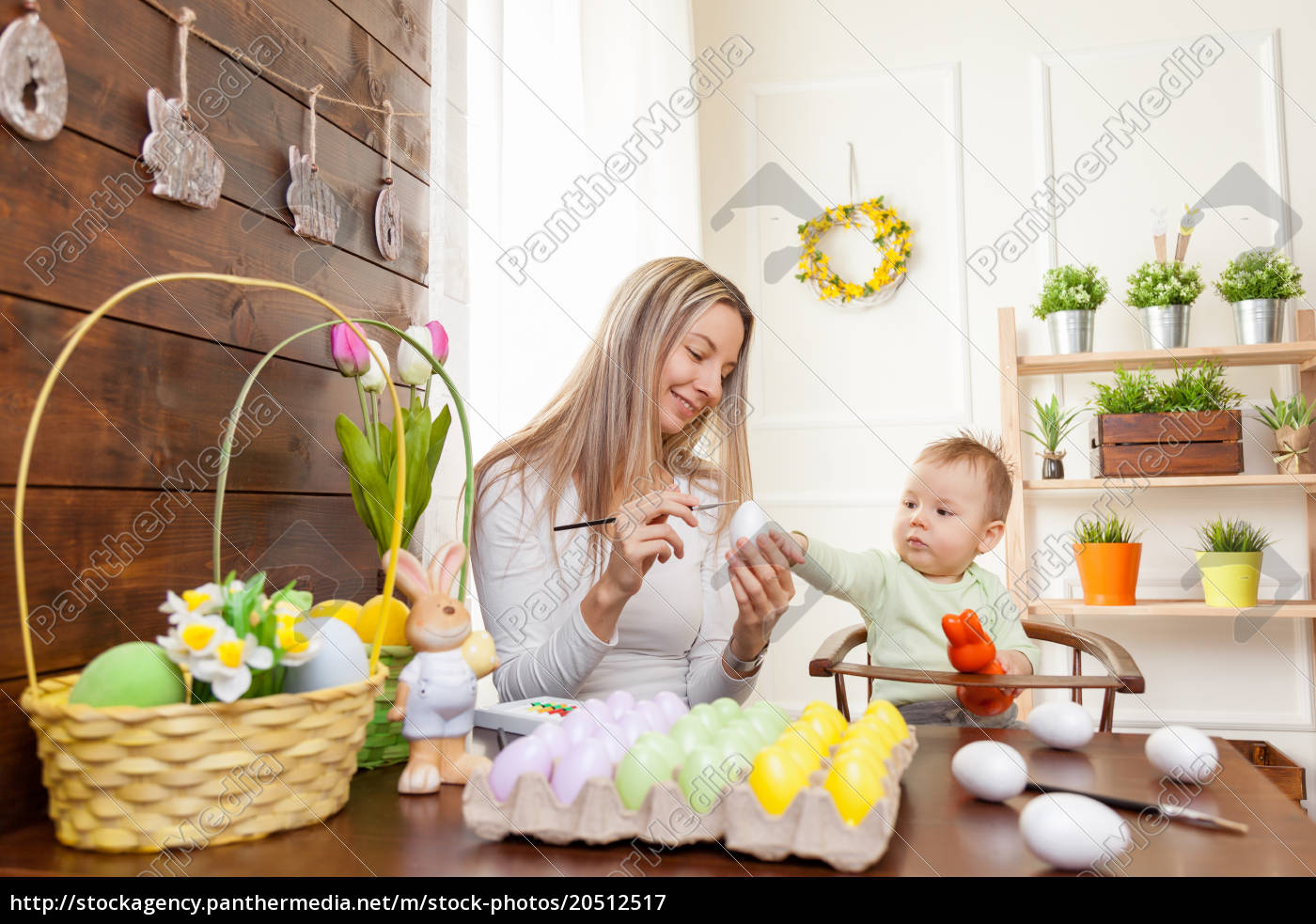 easter, concept., happy, mother, and, her - 20512517