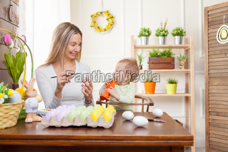 easter, concept., happy, mother, and, her - 20512519