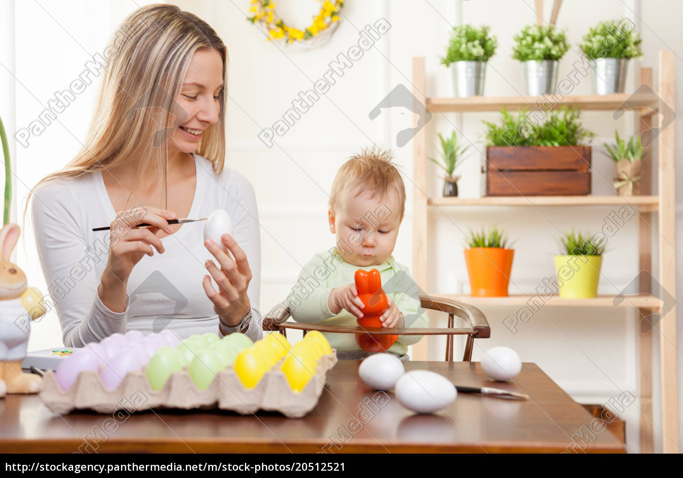 easter, concept., happy, mother, and, her - 20512521