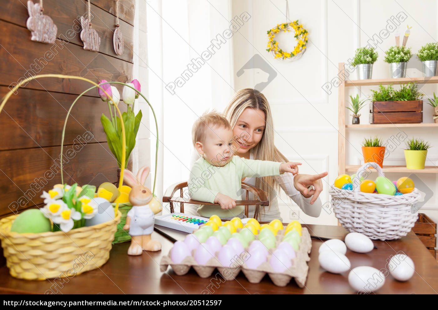 easter, concept., happy, mother, and, her - 20512597