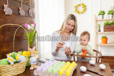easter, concept., happy, mother, and, her - 20512601