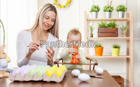 easter, concept., happy, mother, and, her - 20512603