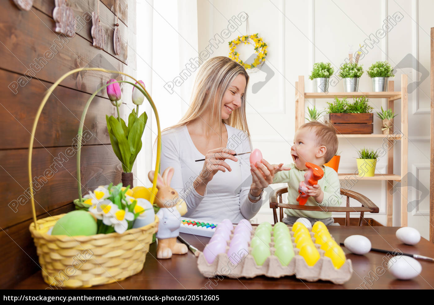 easter, concept., happy, mother, and, her - 20512605