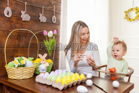easter, concept., happy, mother, and, her - 20512607