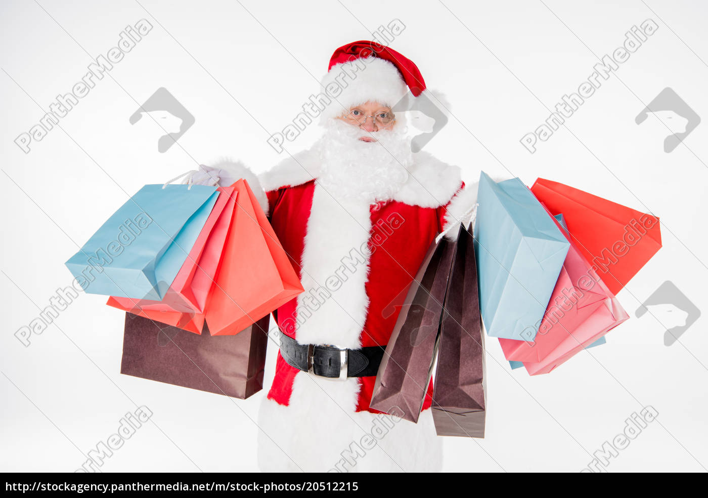 santa, claus, with, shopping, bags - 20512215