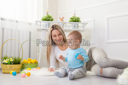 delighted, mother, and, her, child, enjoying - 20513607