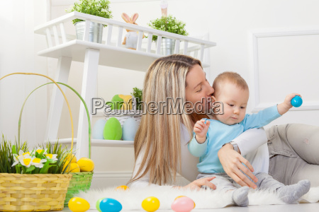 delighted, mother, and, her, child, enjoying - 20513611
