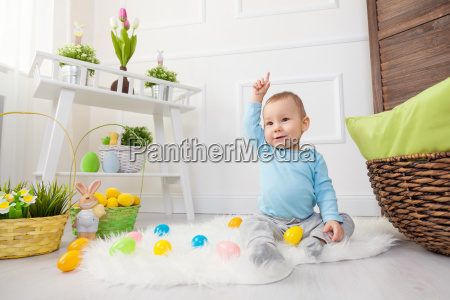 easter, egg, hunt., adorable, child, playing - 20513629