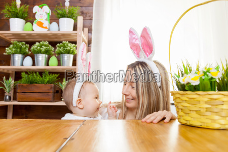 happy, mother, and, her, cute, child - 20513575