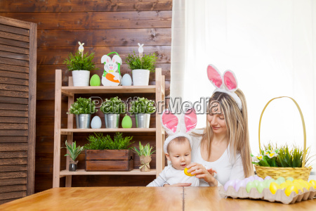 happy, mother, and, her, cute, child - 20513581