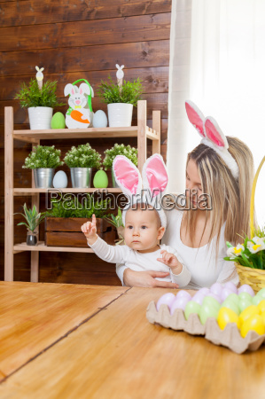 happy, mother, and, her, cute, child - 20513583