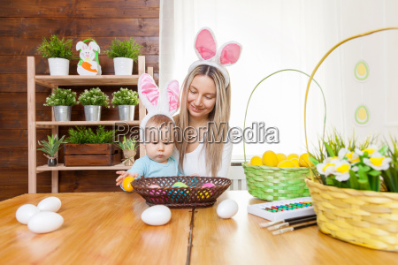 happy, mother, and, her, cute, child - 20513601