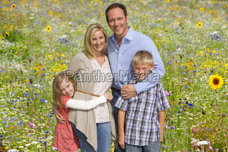 portrait of family on walk through