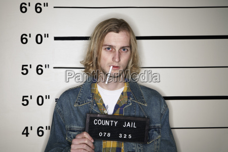 mug shot of man