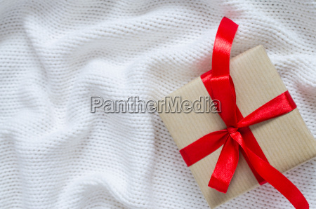 gift box in kraft paper and