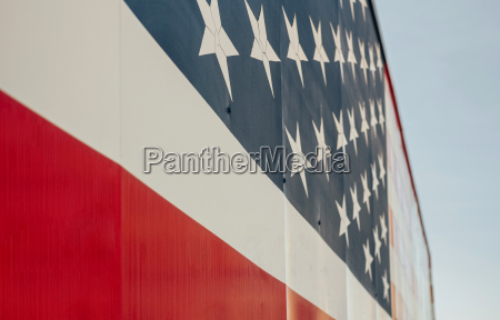 usa stars and stripes on billboard