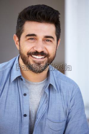 outdoor head and shoulders portrait of