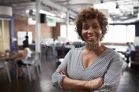 portrait of mature businesswoman in modern