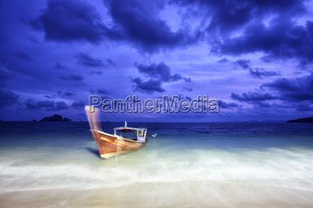 thailand ao nang boat at seafront