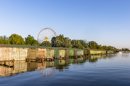 germany rechlin view to boathouses with