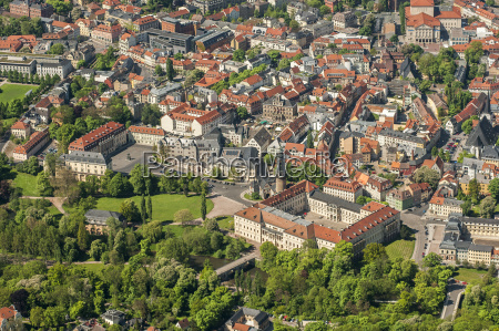 germany weimar aerial view of the