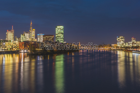 germany frankfurt view to westhafen and