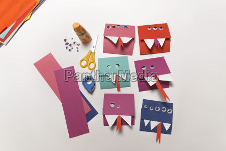 home made monster invitation cards