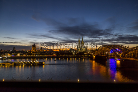 germany cologne cologne cathedral and hohenzollern