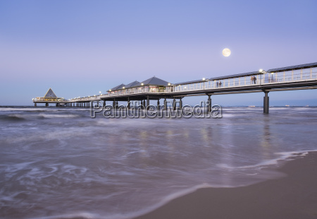 germany usedom heringsdorf pier in the