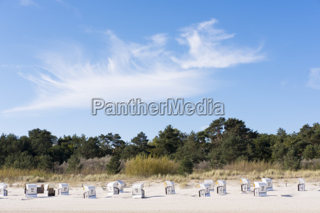 germany usedom heringsdorf beach chairs on