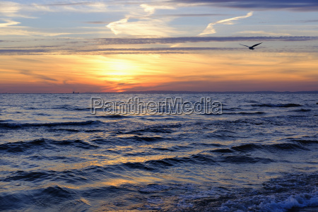 germany usedom bansin sunrise over sea