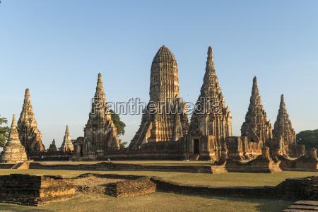 thailand ayutthaya buddhist temple complex wat