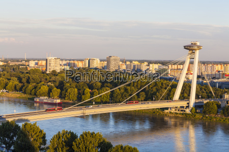 slovakia bratislava view novy most at