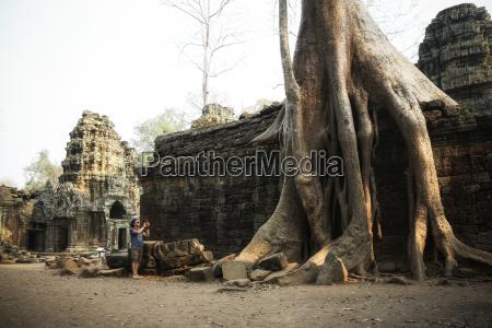 cambodia angkor ta prohm temple tomb