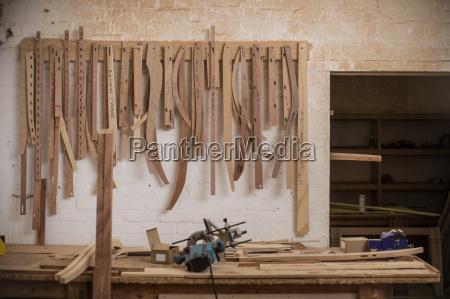 workbench in woodwork