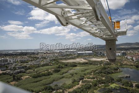construction crane and landscape