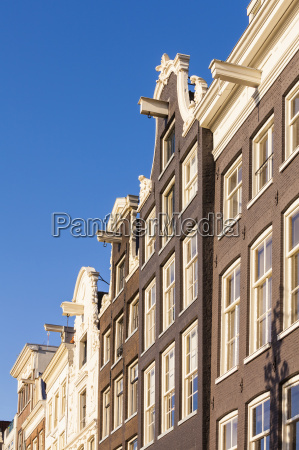 netherlands amsterdam row of canal houses