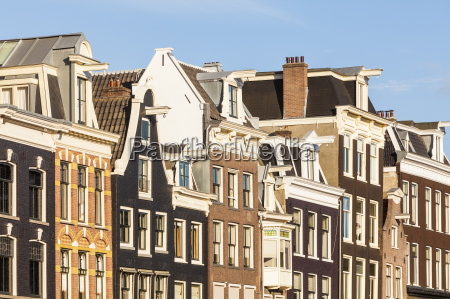 netherlands amsterdam row of old houses