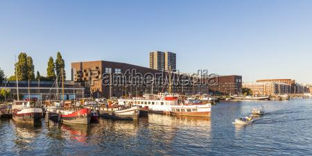 netherlands amsterdam knsm island with piraeus