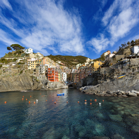 italy cinque terre panoramic view of