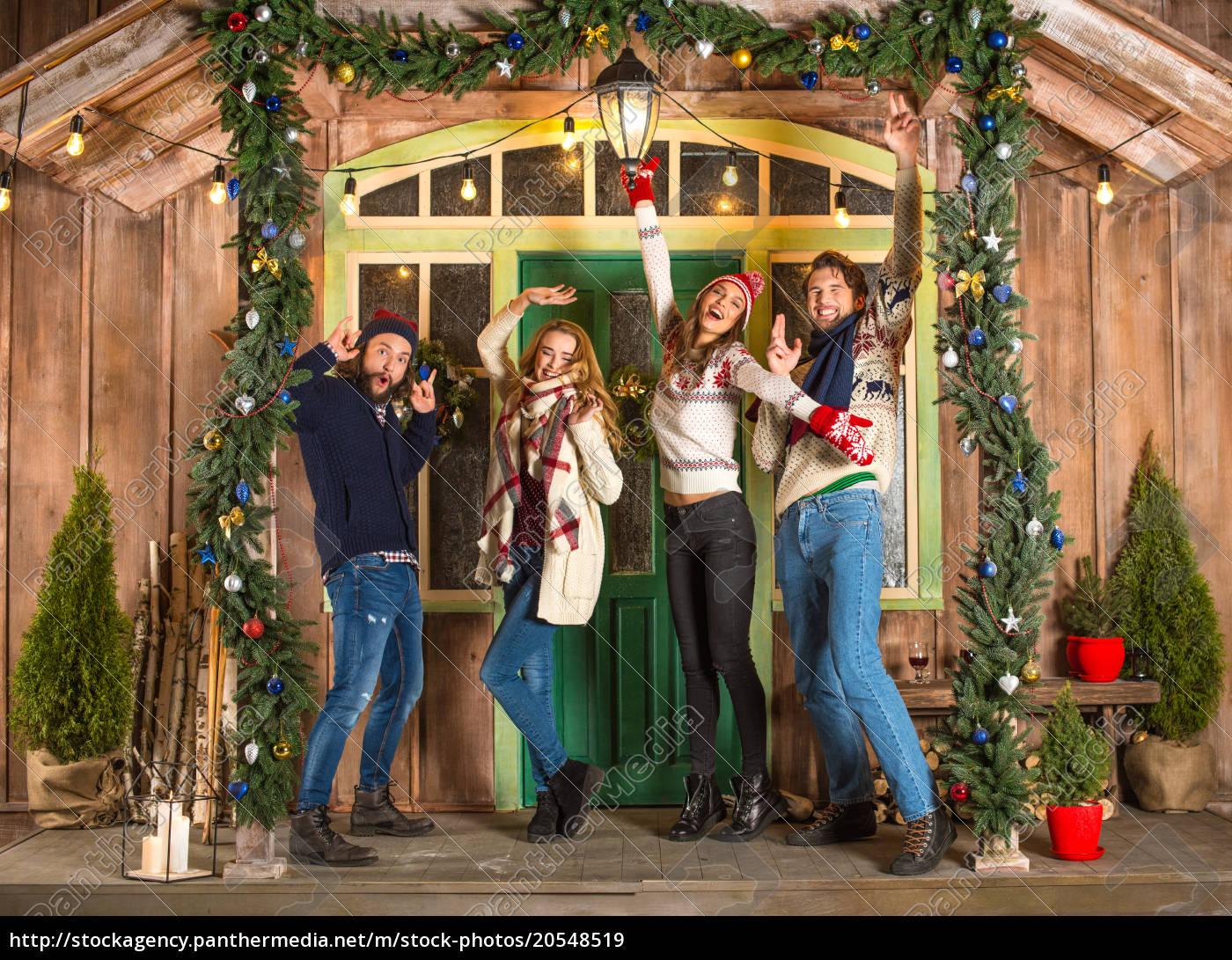 people, having, fun, at, christmastime - 20548519