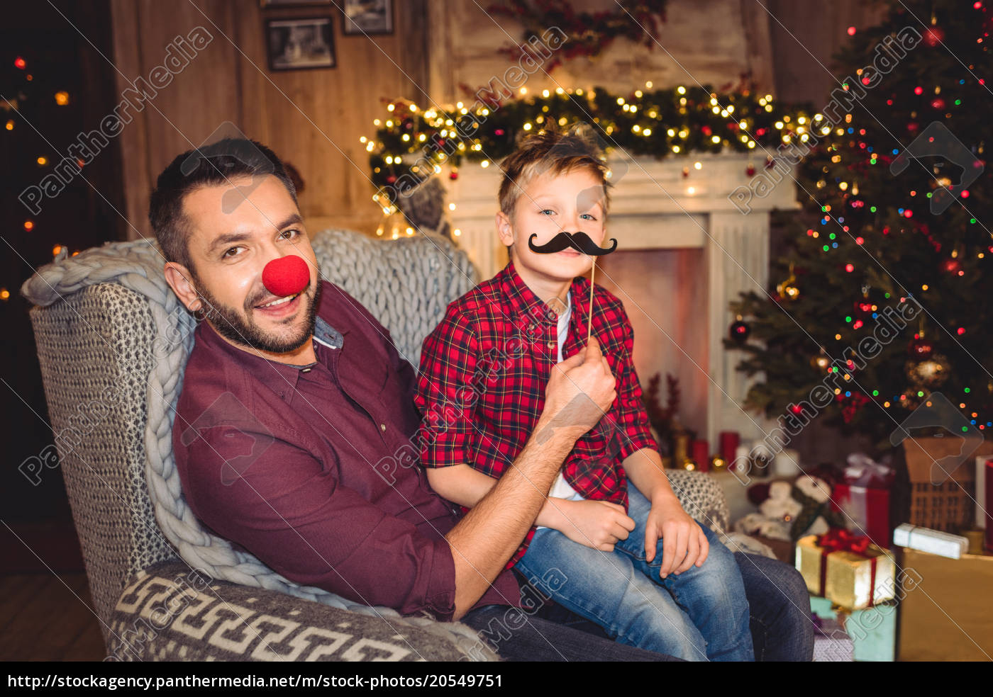 happy, father, and, son, having, fun - 20549751