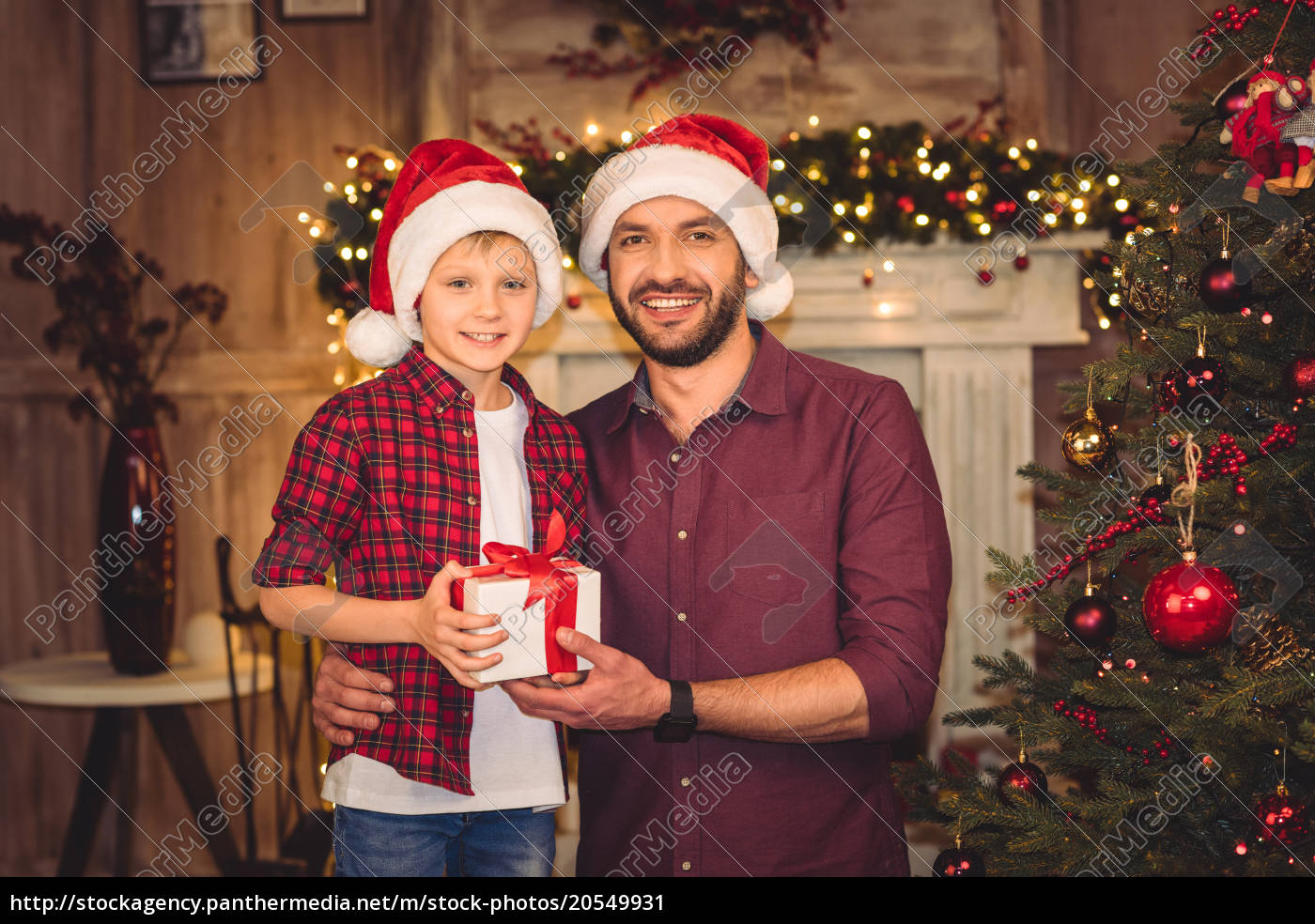 little, son, with, happy, father - 20549931