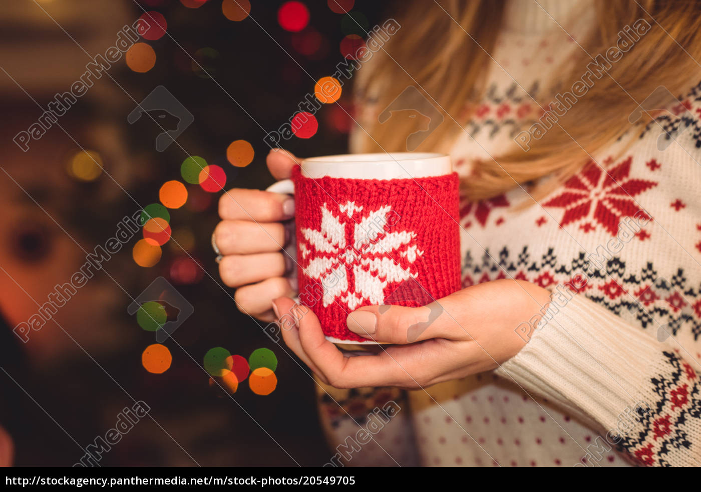 woman, holding, cup, with, hot, drink - 20549705