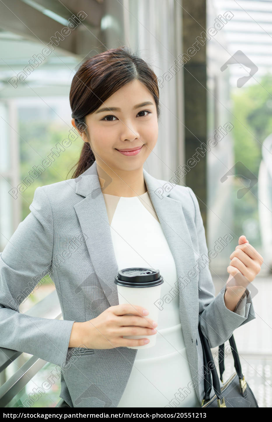 businesswoman, hold, with, coffee, cup - 20551213