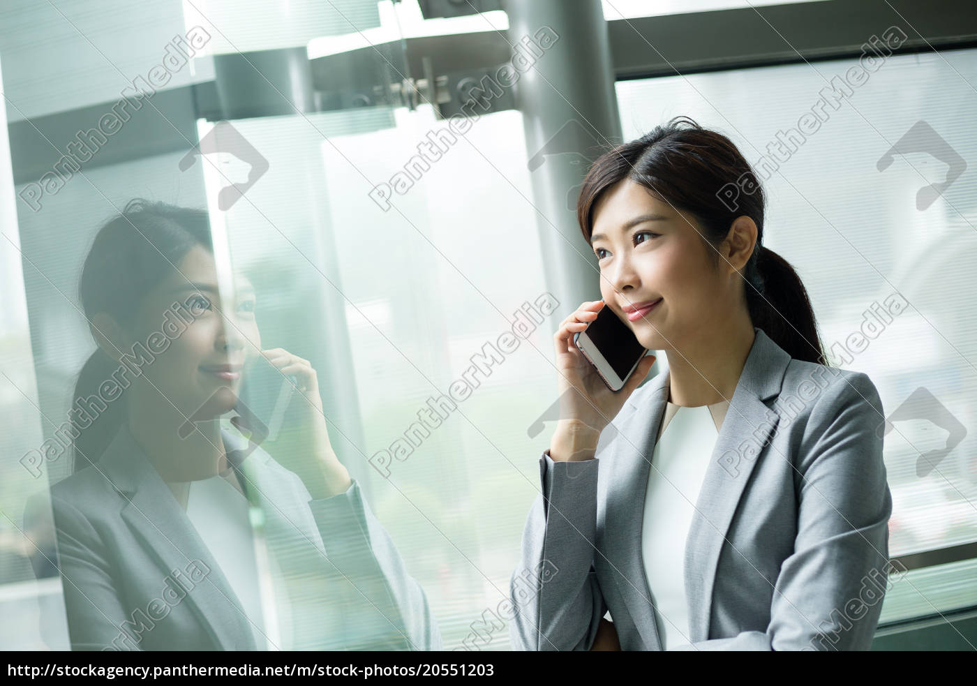 businesswoman, talk, to, cellphone - 20551203