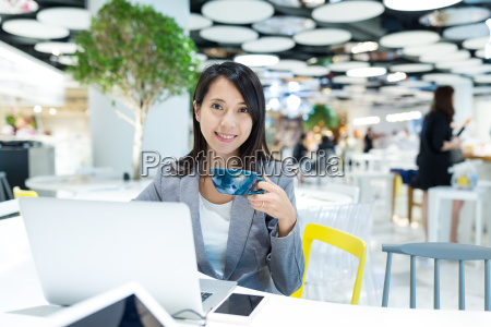 businesswoman, working, on, laptop, computer, and - 20552789