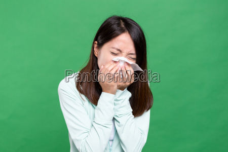 woman, feeling, sneeze - 20552923