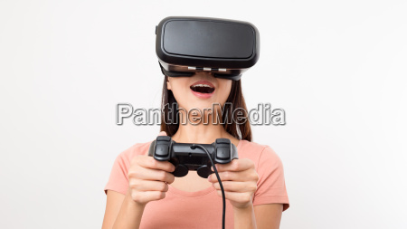 woman, play, game, with, virtual, reality - 20552913