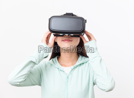 woman, watching, on, vr, device - 20552885